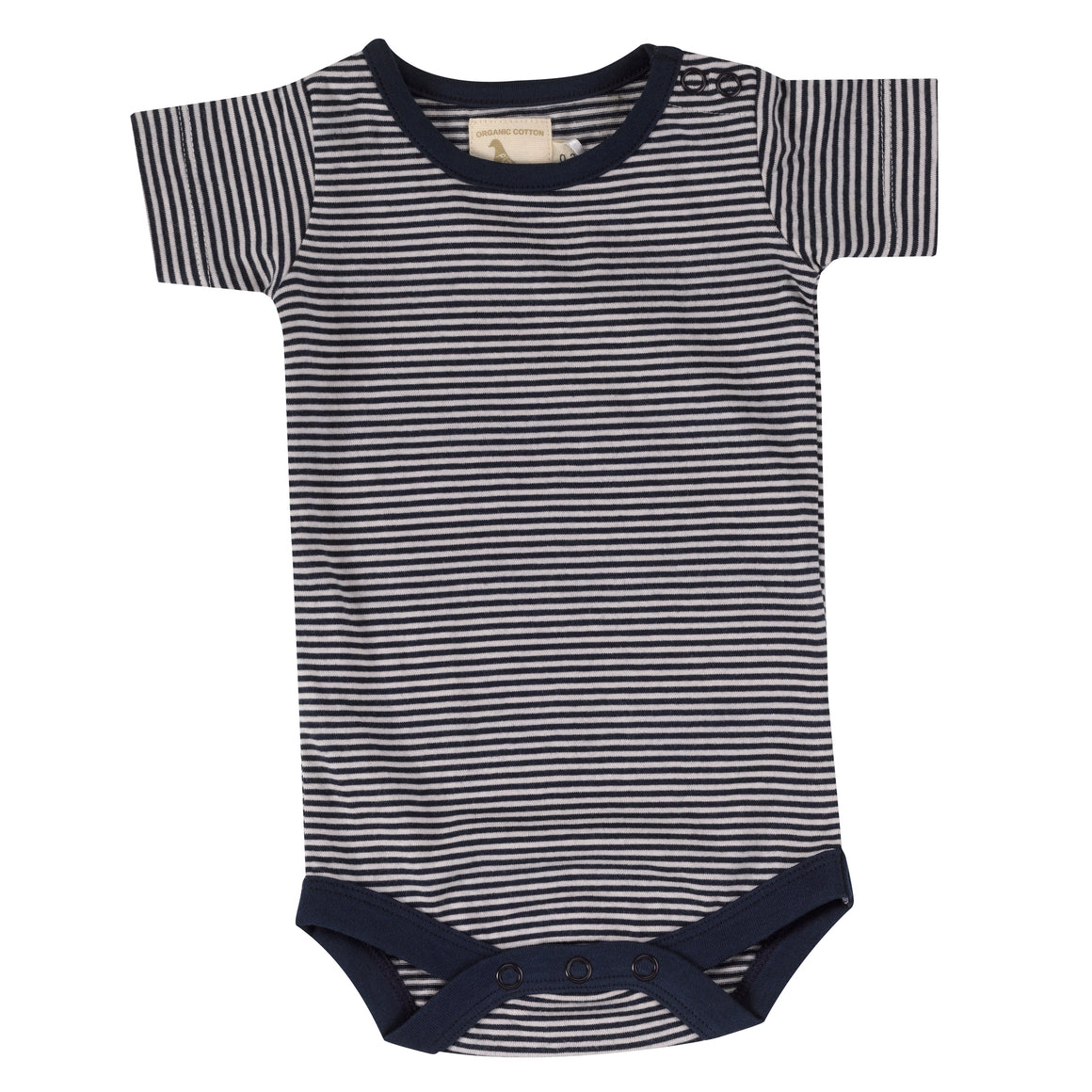 Summer body in navy fine stripe