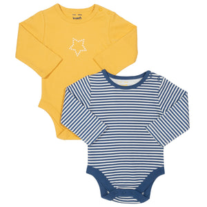 Bodysuit 2 pack with Star print & Navy stripe