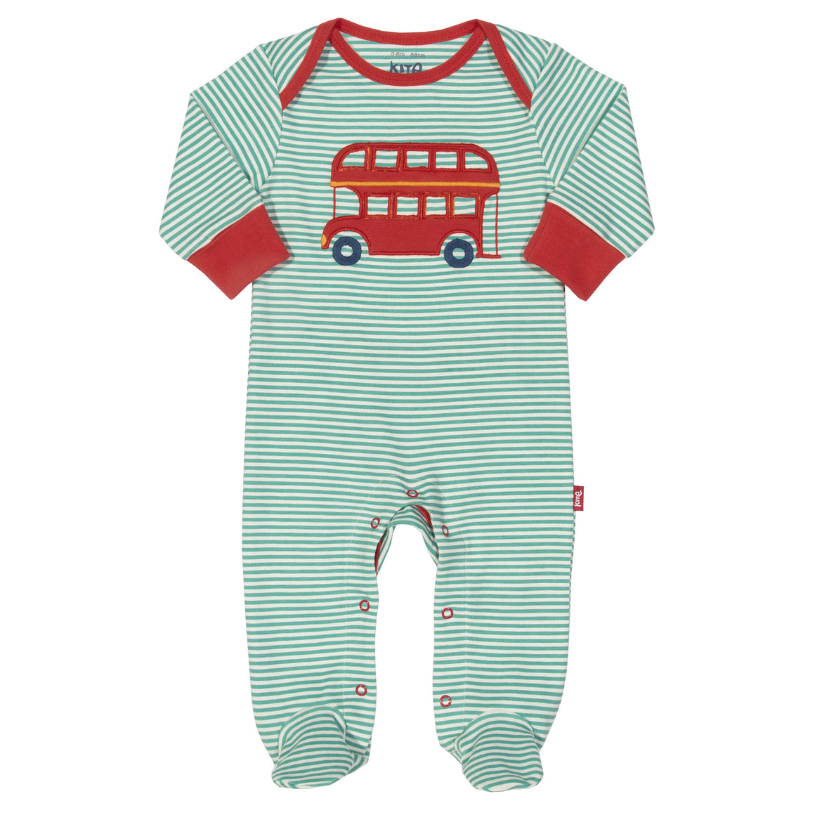 Stripy bus sleepsuit
