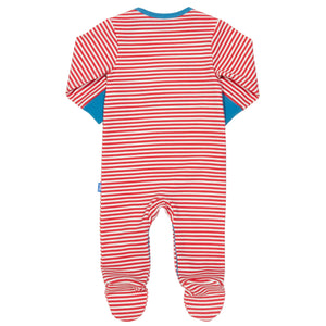Farm Life stripe sleepsuit