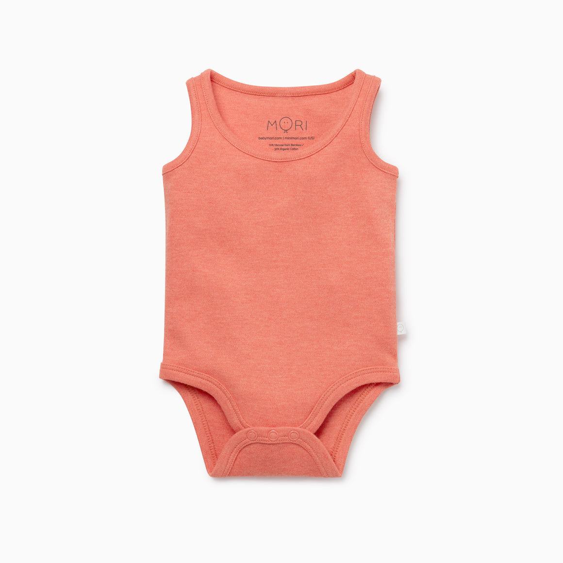 Sleeveless Tank Bodysuit in Coral