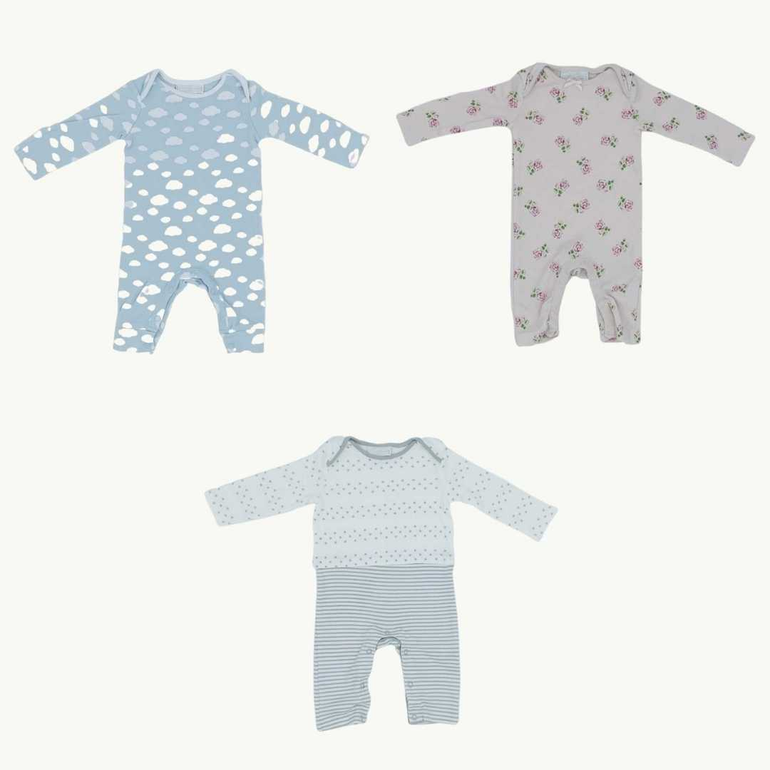 Hardly Worn The White Company pink romper bundle Size 0-3 months