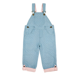 Classic Dungarees in Dotty Denim