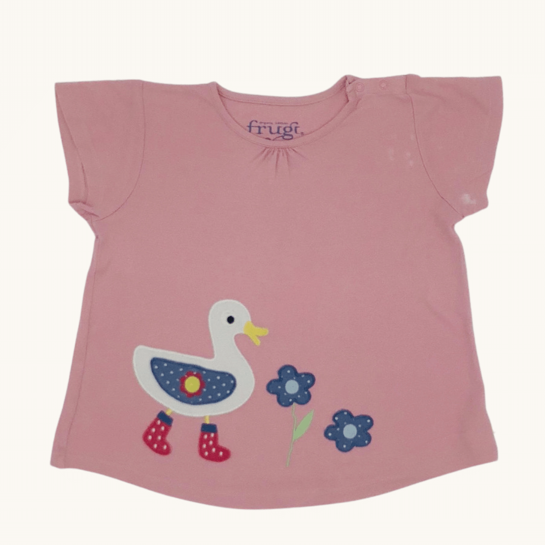 Needs TLC Frugi duck applique t-shirt size 7-8 years