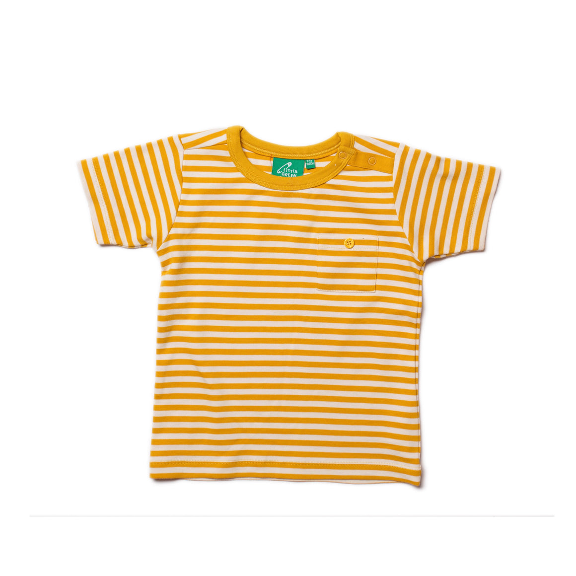 T-Shirt in Gold stripe