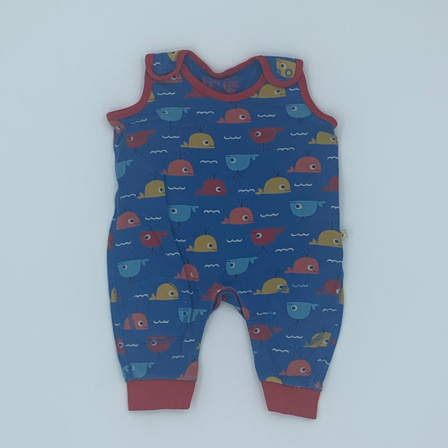 Needs TLC Frugi whale romper dungarees size 3-6 months