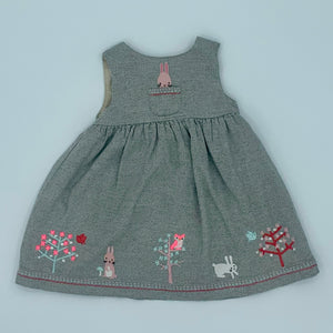 Hardly Worn John Lewis grey bunny dress size 18-24 months