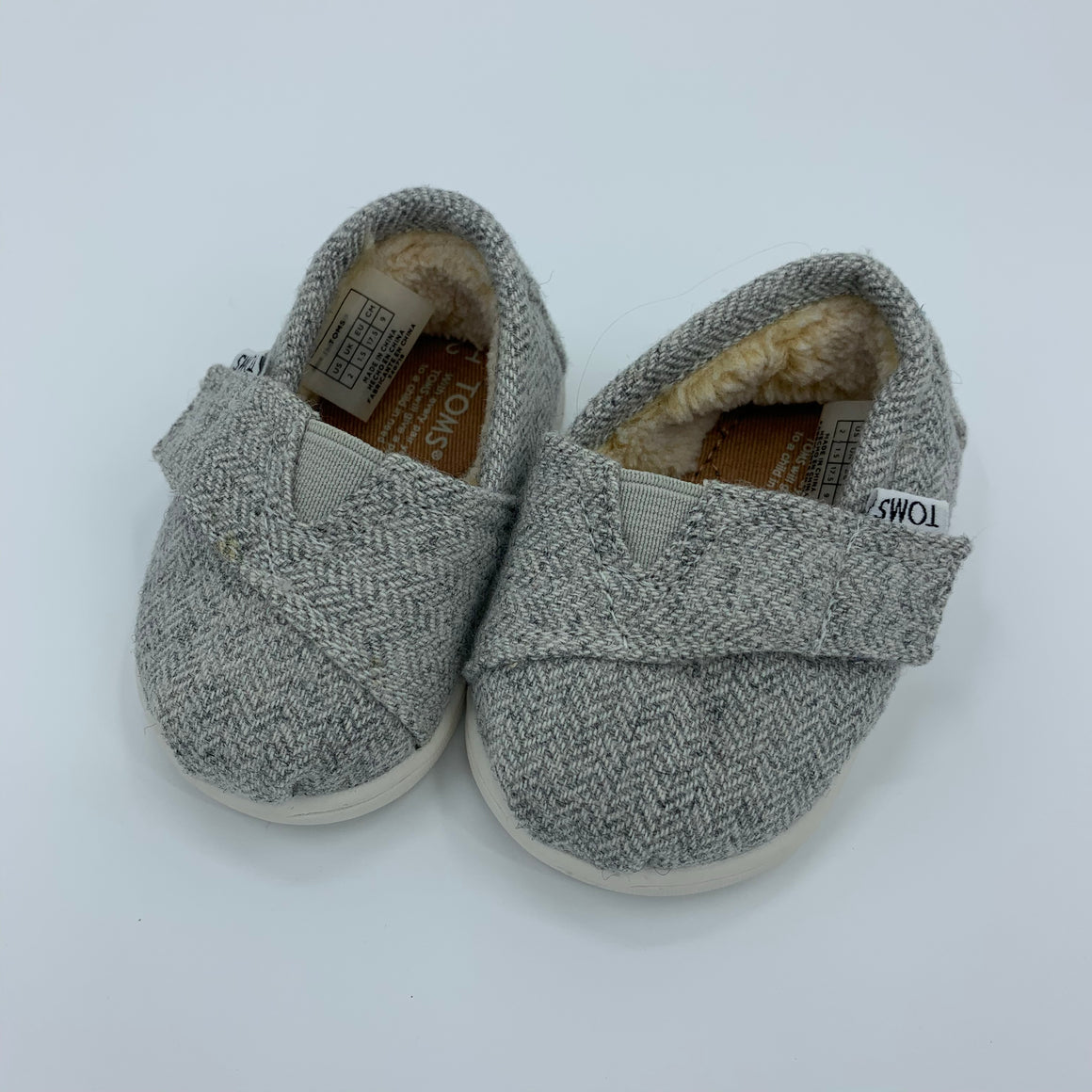 Hardly Worn Toms wool-canvas shoes size UK 1.5
