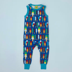 New DUNS of Sweden ice lolly romper dungarees size 9-12 months