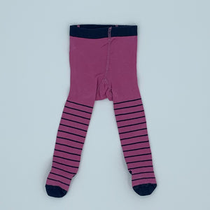Gently Worn Jojo Maman Bebe striped tights size 0-6 months