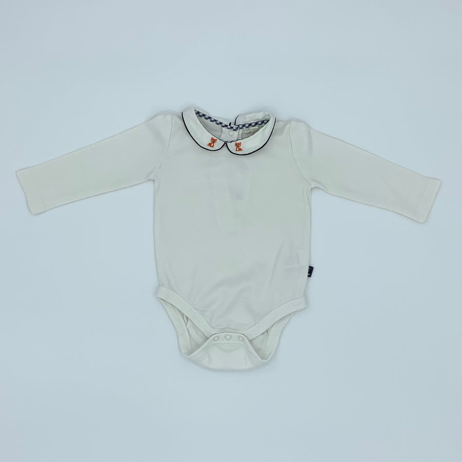Hardly Worn Jojo Maman Bebe fox embroidered bodysuit size 6-12 months
