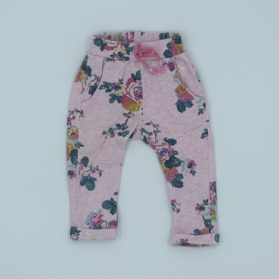 Gently Worn Joules flower leggings size 6-9 months