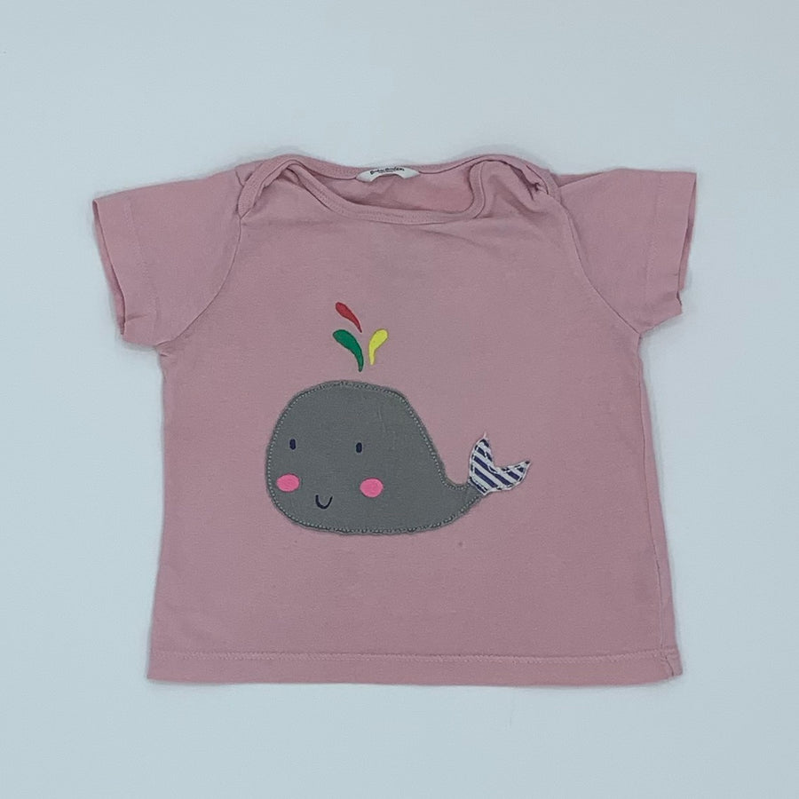 Needs TLC Boden whale top size 6-12 months