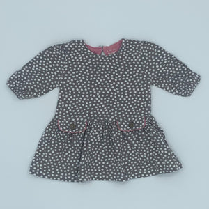Hardly Worn Kite spotty dress size 6-12 months