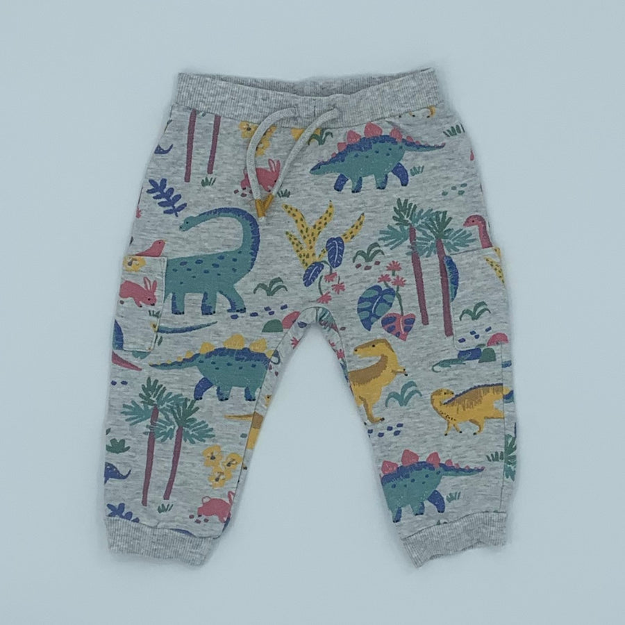 Gently Worn John Lewis dinosaur joggers size 6-9 months