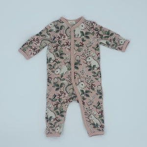 Hardly Worn Newbie rabbit romper size 2-4 months