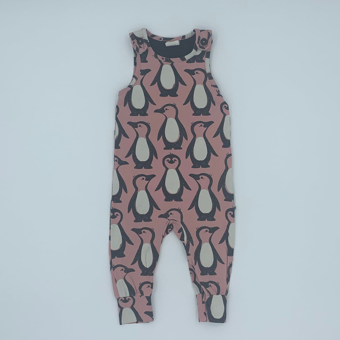 Hardly Worn Maxomorra penguin romper dungarees size 9-12 months