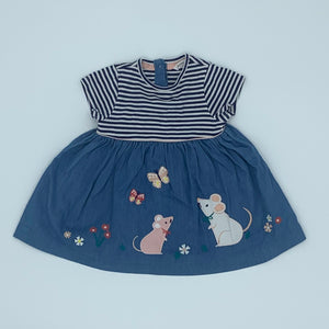 Hardly Worn John Lewis mouse two-in-one dress size 3-6 months