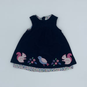 Hardly Worn Jojo Maman Bebe corduroy dress size 6-12 months