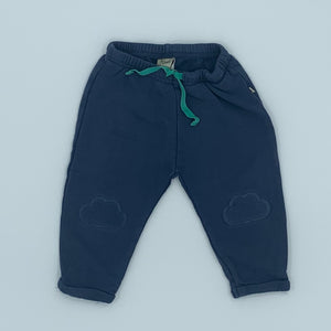Hardly Worn Frugi cloud kneepatch joggers size 6-12 months
