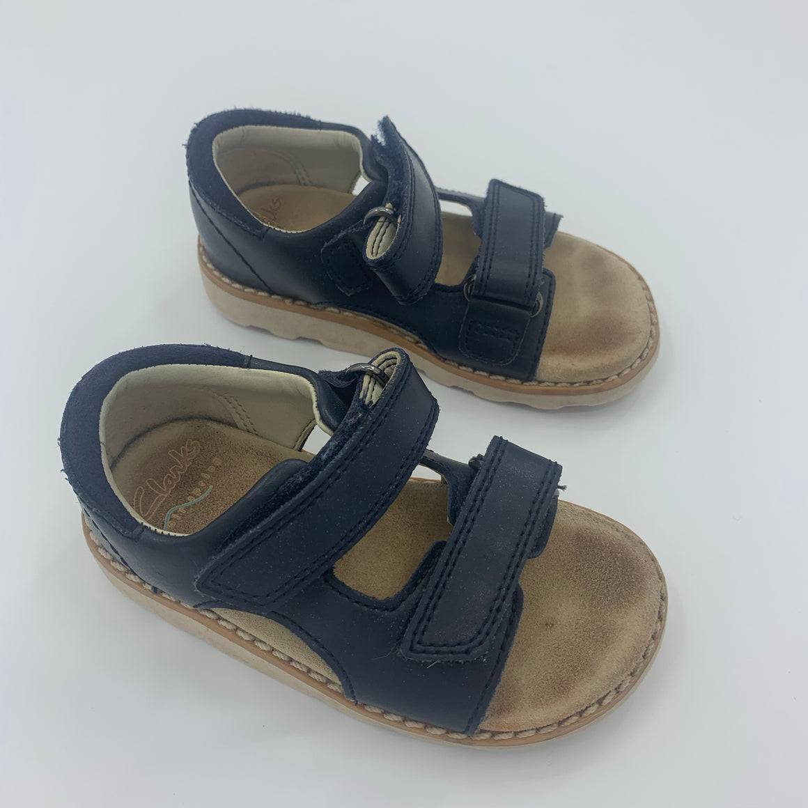 Hardly Worn Clark's navy sandals size UK 5.5F