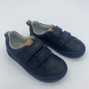 Hardly Worn Clarks navy velcro shoes size UK 6.5F