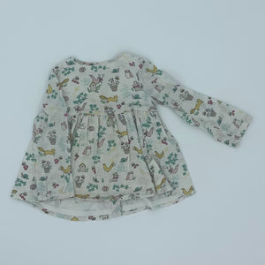 Gently Worn John Lewis animal dress size 12-18 months