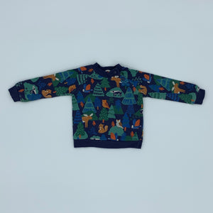 Gently Worn John Lewis forest animal jumper size 6-9 months
