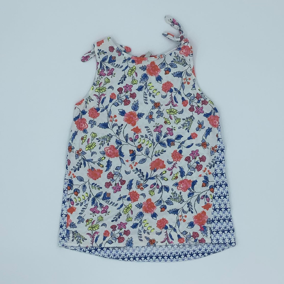 Gently Worn Joules flower sleeveless top size 9-10 years