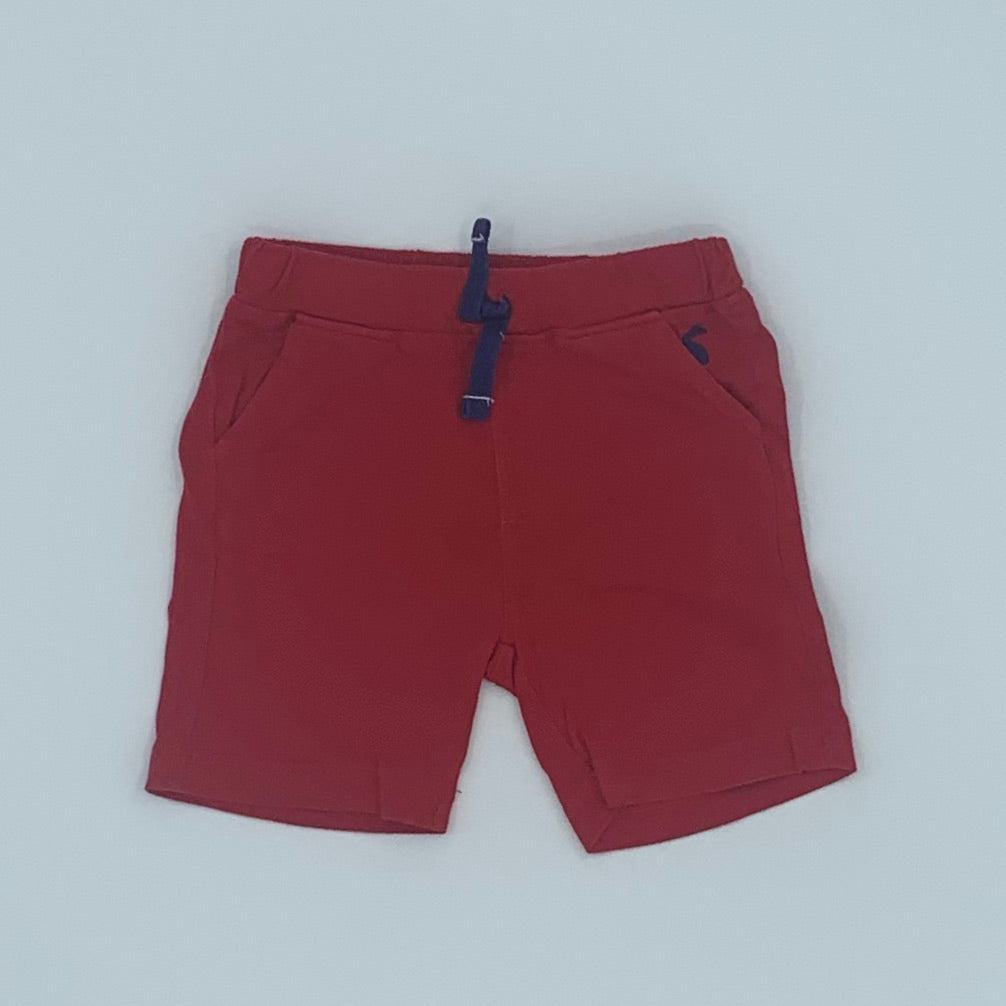 Gently Worn Joules red shorts size 9-12 months