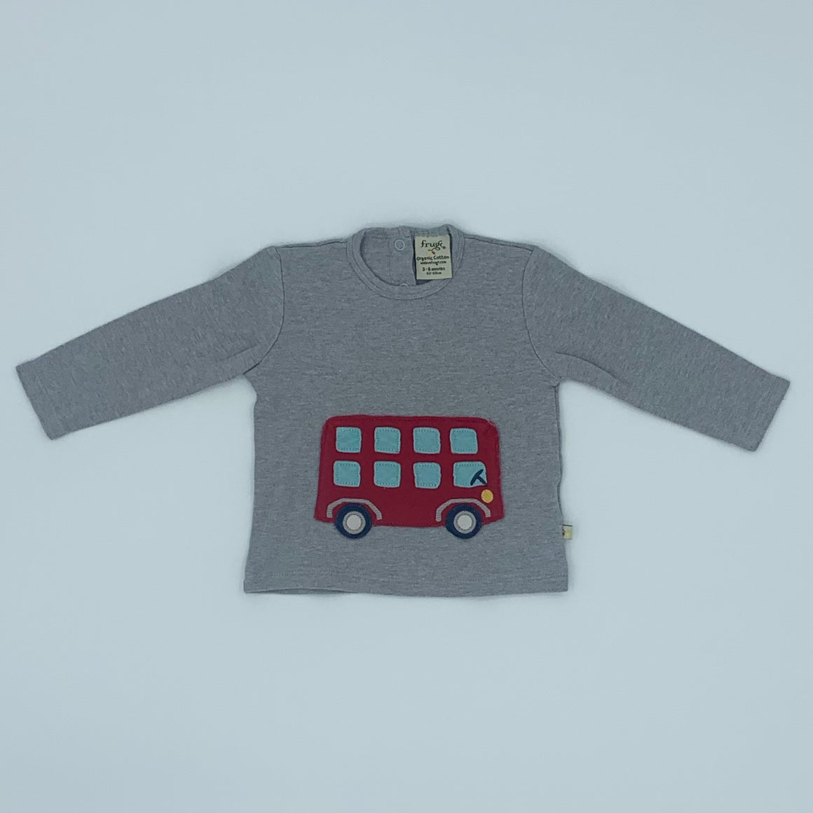 Hardly Worn Frugi London bus top size 3-6 months