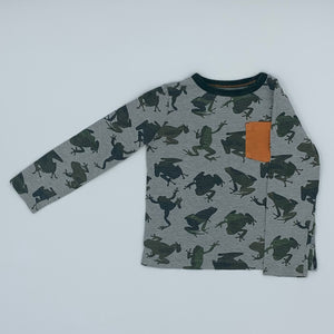 Gently Worn Boden frog top size 4-5 years