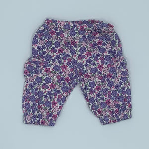 Hardly Worn Jojo Maman Bebe pink flower trousers size 3-6 months