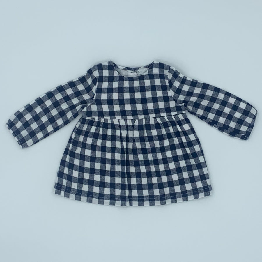 Gently Worn The White Company checked dress size 6-9 months