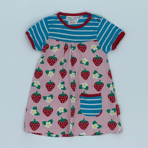 Hardly Worn Toby Tiger strawberry dress size 6-12 months