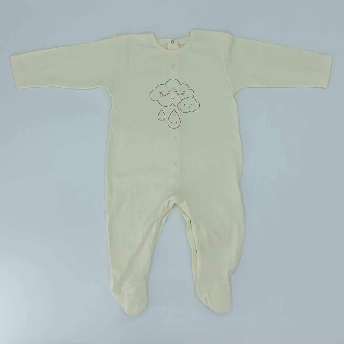 New Poudre Organic cream cloud sleepsuit size 12-18 months
