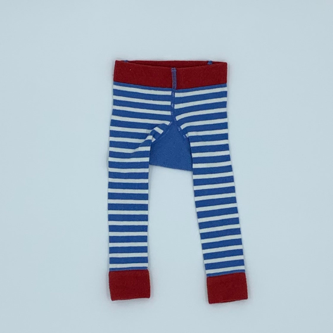 Gently Worn Jojo Maman Bebe blue & white knitted tights size 0-6 months