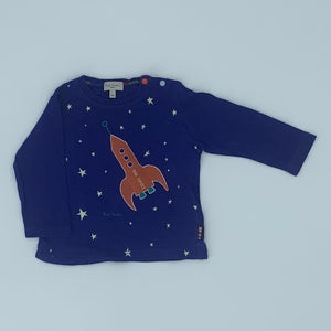 Hardly Worn Paul Smith blue rocket top size 6-9 months
