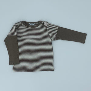 Hardly Worn Boden brown two-in-one top size 12-18 months