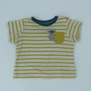 Hardly Worn Boden striped koala t-shirt size 3-6 months