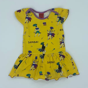 Hardly Worn Raspberry Republic yellow samba dress size 1.5 - 3 years
