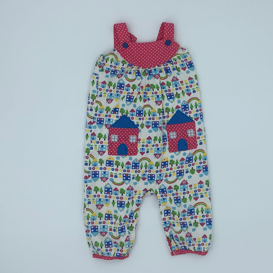 Hardly Worn Frugi house romper dungarees size 12-18 months
