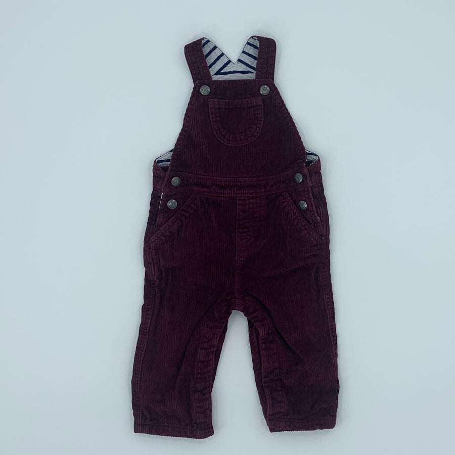 Hardly Worn Boden brown cord dungarees size 6-12 months