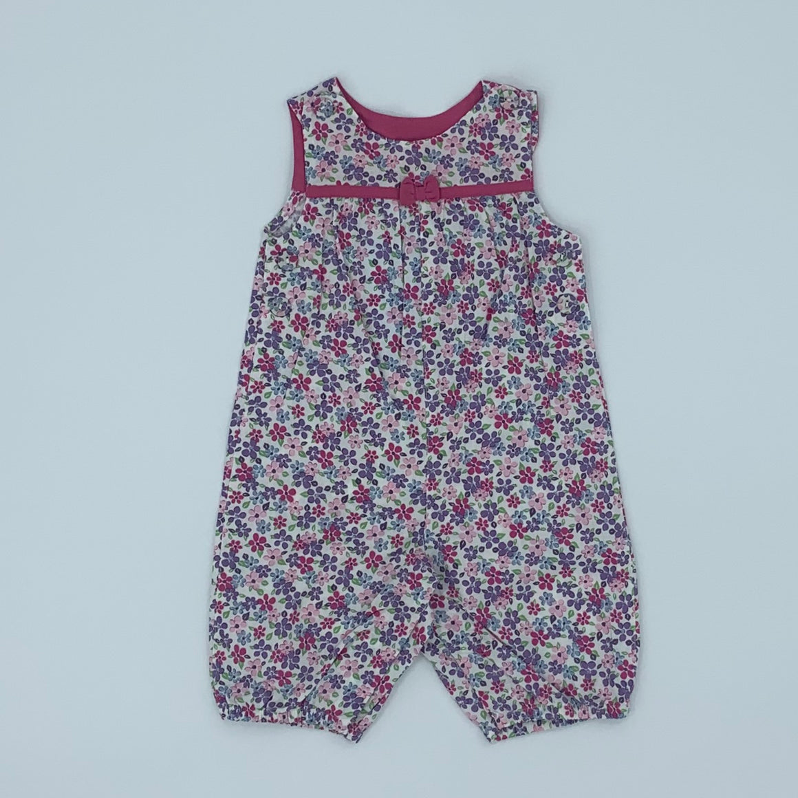 New Jojo Maman Bebe flower romper dungarees size 6-12 months