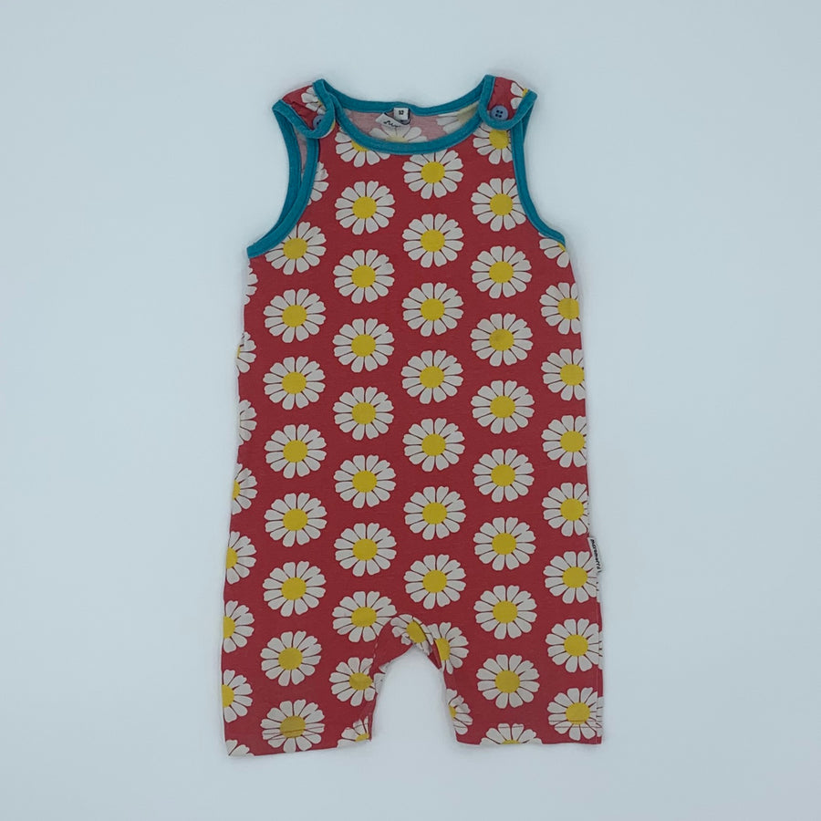 Gently Worn Maxomorra red daisy shortie size 18-24 months