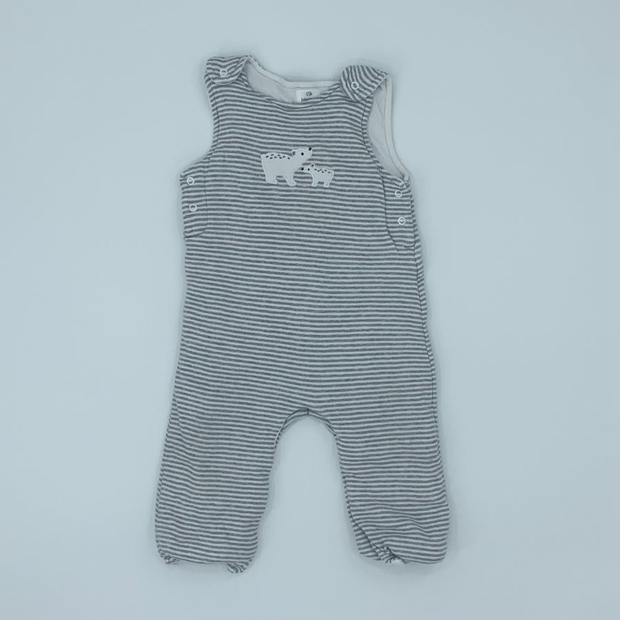 Hardly Worn John Lewis striped polar bear romper size 9-12 months