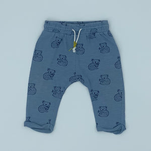 Hardly Worn Boden blue koala joggers size 3-6 months