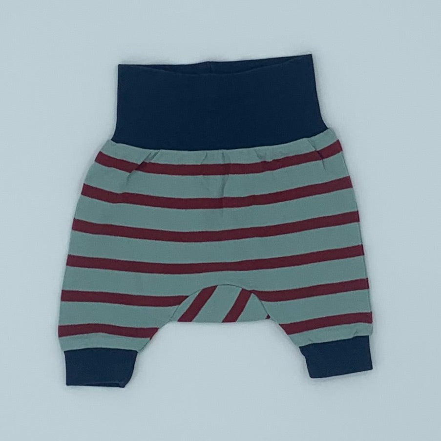 Hardly Worn Pigeon Organics striped baby joggers size 0-3 months