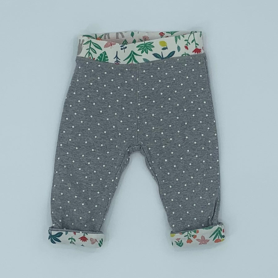 Gently Worn Boden reversible jungle leggings size 6-12 months