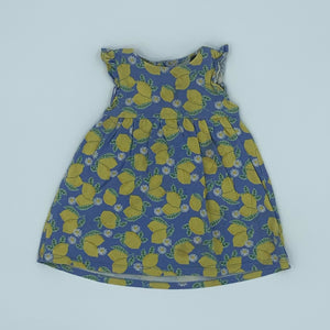 Gently Worn John Lewis blue lemon dress size 6-9 months